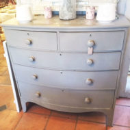 Painted-Bow-Front-Chest-Of-Drawers