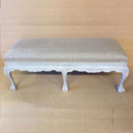 LMFU6-Grey-Framed-6-Leg-Stool-With-Grey-Linen