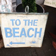 LMIS3-Wooden-Sign-`To-The-Beach