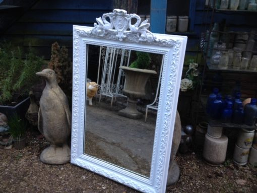 C19th French Painted Mirror LMMV21