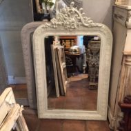 C19th French Painted Mirror LMMV31