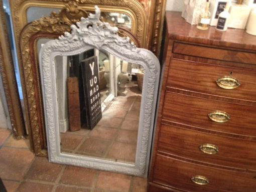 C19th French Painted Mirror LMMV35