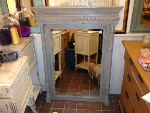 C19th French Painted Mirror LMMV37