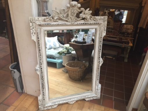 C19th French Painted Mirror LMMV38