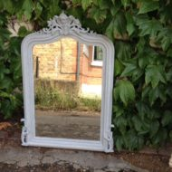 C19th French Painted Mirror LMMV48