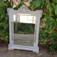 C19th French Painted Mirror LMMV49