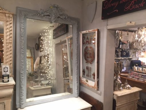 C19th French Painted Mirror LMMV51