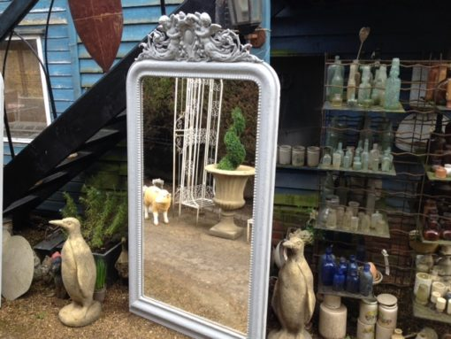 C19th French Painted Mirror