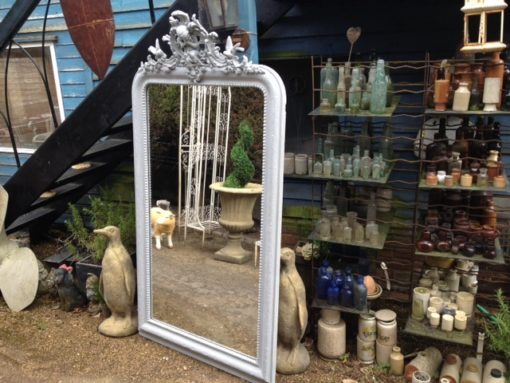 C19th French Painted Mirror LMMV57
