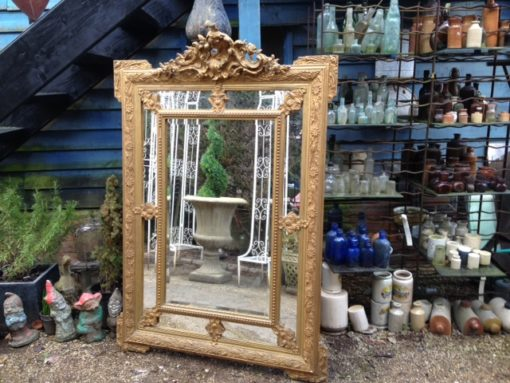 C19th French Gilt Cushion Mirror LMMV58