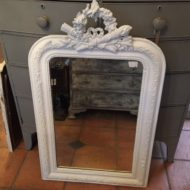 C19th French Painted Mirror LMMV62