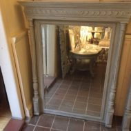 French Henri Deux Painted Mirror LMMV63