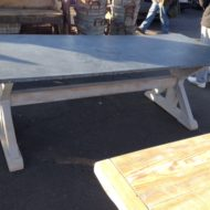 Zinc Top Trestle Table LMT10