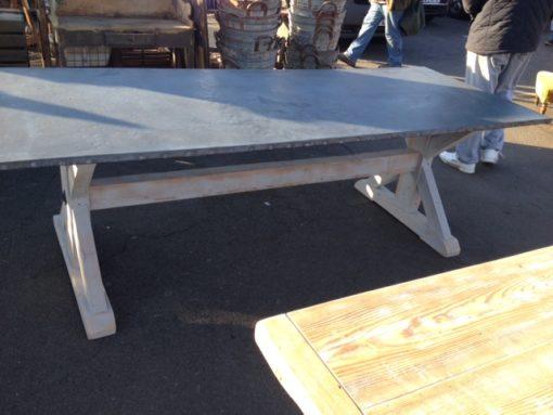 Zinc Top Trestle Table LMT10