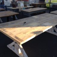 Wooden Top Trestle Table LMT11