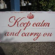 Handmade Keep Calm And Carry On Sign, LMIS5