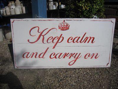 Handmade Keep Calm And Carry On Sign, LMIS5