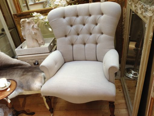 Large Linen Chair LMSE11